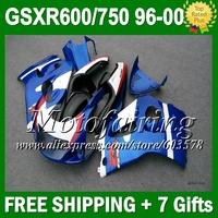 For SUZUKI 1996 1997 1998 1999 2000 GSX R600 R750 SRAD GSXR 600 750 Stock blue L109  96 97 98 99 00  Fairing HOT blue white