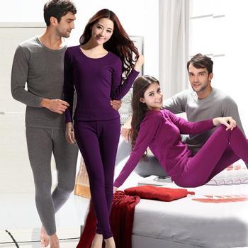 Мужчины / женщины тепловой нижнее белье сгустите удобные спорт ropa интерьер костюм XL XXL XXXL