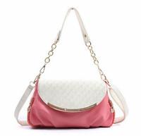 New 2014 Candy Color Women's Leather Handbag Retro lady Shoulder bag Women Messenger bag evening bags