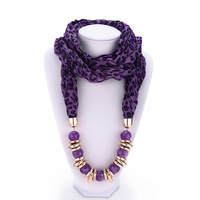 3 Colors Promotions New arrival fashion Elegant gem beaded leopard scarves jewelry High quality women accessories  2014 PT35