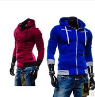 Free Shipping Hot Selling new winter 2014 men's casual sport fleece hooded jackets,Fashion Men's Slim Fit  Hoodies Sweatshirt