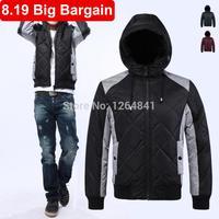 8.19 Big Bargain! duck down jacket men 2014 New winter jacket men,Fashion warm parka men coat,Leisure wild man jacket
