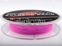 Wholesale 4 strands PE Dyneema Braided Fishing Line 300M Pink 8LB 0.10mm 328 Yard Spectra Braid fishing line