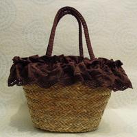 Free Post new straw bags charming coffee plants wind rattan handbags shoulder