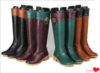 2014 foreign trade leather large size women boots winter female footwear Martin boots in mixed colors with high boots