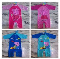 Retail 4 design Free shipping children kids girl boys Peppa pig George pig bathers swimwear anti-ultraviolet 50+ beach wear togs