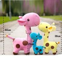 18cm colorful Kids Baby Plush Toy Stuffed Cute Plush Donkey Dot Colorful Doll Gift Free DropShipping