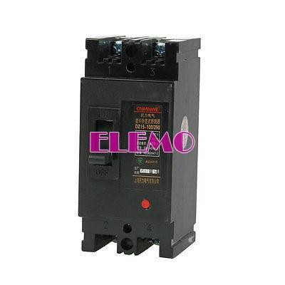 380v ac 100 ampères 2p 2 pólos mccb disjuntor moldado do caso dz15-100/290(China (Mainland))