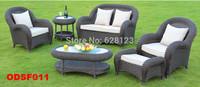 ODSF011 Luxury outdoor sofa cany art leisure sofa The balcony garden outdoor sofa combination Imitation rattan sofa