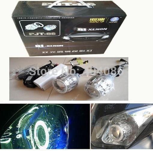G8 HID Projector Lens Bixenon headhight kit + Angel Red Eyes+ 9005 9004 H1 H4 H13 H7 8000K 6000K 4300K/Best quality(China (Mainland))