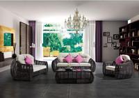 ODSF013 2014 new style Wholesale Custom synthetic PE rattan garden sofa Space sofa hotel furniture villa garden furniture