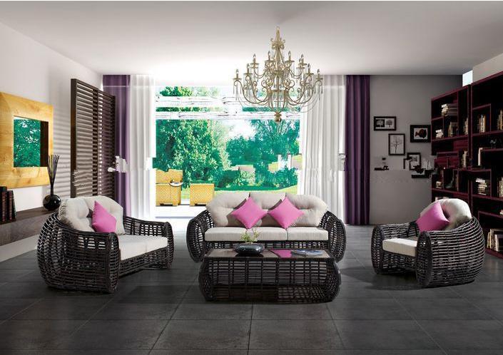 mobiliario de jardim em rattan sintetico: de jardim PE rattan sintético sofá mobiliário de jardim mobiliário