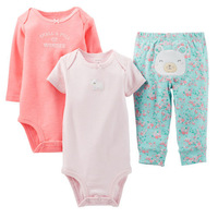 Retail,Carters Original Baby Girls 3 Piece Bodysuit And Pant Set ,Baby Girls Lovely Clothing Set Free Shipping IN STOCK