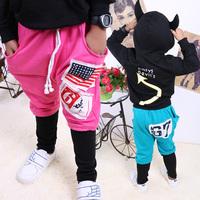 2014 Fashion- Children Kid Baby Boy Rock Punk USA American Flag Harem Pant Trousers Cotton