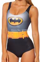 New Sexy Hot Womens European Swimsuit One Piece Bathing Suit Batman Digital Print Backless Wetsuit Lady's Swimwear Free Shipping