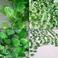 ES4381 20pcs/lot Artificial Faux Ivy Vine Green Leaves Foliage Plant Garden Yard Decoration