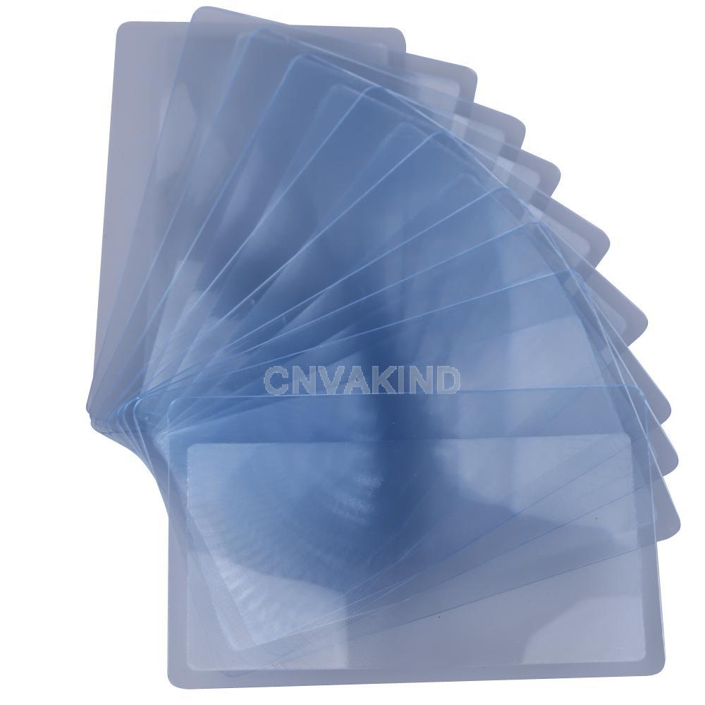 #Cu3 10 PCS Credit Card 3 X Magnifier Magnification Magnifying Fresnel LENS(China (Mainland))