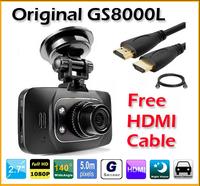 "GS8000L Car DVR Novatek 2.7 ""LCD 140 degree Full HD 1920x1080P Vehicle Camera Voice Recorder+Free HDMI Cable (CDC-08)"