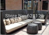 ODSF019  outdoor cane leisure sofa Wide cane high-grade sofa The courtyard hotel sofa leisure coffee shop sofa