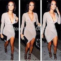 Retail!!! 2014 Summer Dress Women's Summer Sexy Bodycon Splicing Bandage Dress free shipping