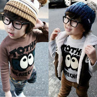 The autumn of 2014 Korean version of the new boy's clothes the female's baby long sleeved T shirt tx-0012