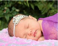 Pearl Princess Tiara Headband Royal Baby Pearl Crown Baby Headband Christmas Gift Rhinestone  children accessories2pcs/lot