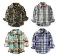 Original Carter's Toddler Boys Plaid Long Sleeve Poplin Shirt, free shipping
