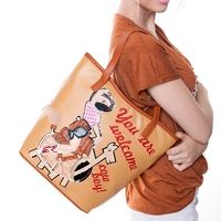 braccialini bag 2014 personality fashion handmade patchwork denim beautiful woman the one shoulder cross-body bags female