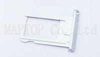 Free Shipping Original New Parts 10pcs/lot For ipad air  Sim Cards Adapters - silver