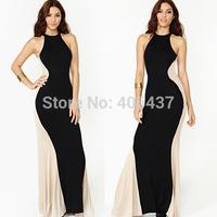 2014 Sexy Ladies Bandage Bodycon Party Maxi Dress Women Night wear Clubwear Hot New Black Blue 4162 free shipping