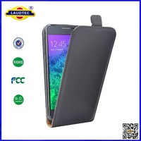 Ultra Slim Leather case cover shell For Samsung Galaxy Alpha,Galaxy Alpha leather case cover DHL&FEDEX Free shipping