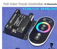 2014 hot sale 12-24V, 24A RGB RF Full-color Touch Controller
