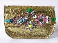 New arrival fashion bag  crystal ornaments glitter PVC Messenger Bag 2014 for women bag factory price wholesale 4 Color