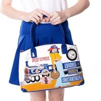 One shoulder beautiful women fashion braccialini bag 2014 women's patchwork handbag women's