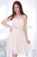 Free Shipping 2014 New Korean Bra Waist Evening Dress Bridesmaid Dress Short Paragraph Bridesmaid Dress Mission Sisters