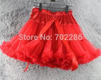 Red Women pettiskirts xmas wear  party skirts chiffon Layers lady petticoat luxury tutu skirts