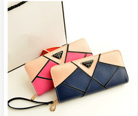 The new models hit the color Wristlet female long spell color zipper bag lady purse hand purse