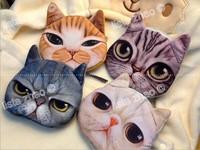 High quality Soft Plush Cartoon Cat cosmetic bag fashion handbags 5 pcs/set