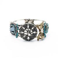 fashion bracelet for women 2014 hot selling Tide restoring ancient ways flowers bow -encrusted bracelet