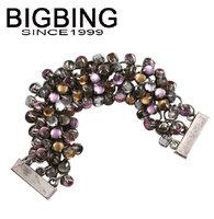 BigBing Fashion jewelry  crystal bracelet fashion charm bracelet fashion jewelry nickel free Free shipping! Q602