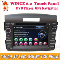 Wince Car DVD Automotivo Support 3G Touch Screen Bluetooth Steering Wheel Control GPS Audio Radio Stereo For Honda 2012 CRV