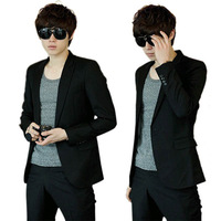 Fashion Business Men's One Button Slim Fitted Casual Suit Blazer Coat Jackets For Freeshipping