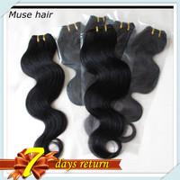 Cheap Price Peruvian Body Wave Softy&Healthy Human Hair Bundles 50g/pc 6pcs/lot New Fashion Wavy Style Color#1B FreeDHL Shipping