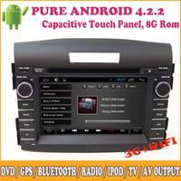 Android Car DVD Automotivo Support GPS 3G Wifi Bluetooth TV Steering Wheel Control Camera Input iPod Radio For Honda CRV 2012