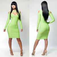Freeshipping 2014 New Women Fashion Sexy Sheath Fashion Dress,Club Party Dress,Hollow Out Patchwork Cheer Dresses