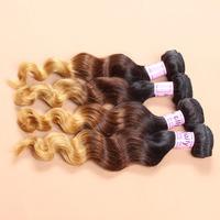 New star virgin brazlian loose wave hair 5pcs virgin ombre hair bundles 12-28 inch remy brazilian hair extension free UPS/DHL