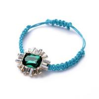 fashion bracelet for women 2014 hot selling Hand-woven green gem women's bracelet Summertime joker