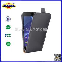 LAUDTEC NEW Z3 Compact Leather Flip Case, For Sony Z3 Mini PU Slim Leather Case 300pcs/lot