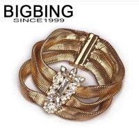 BigBing Fashion jewelry  Golden chain bracelet fashion bracelet fashion jewelry nickel free Free shipping! L902
