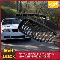 New Sale Front Grilles Car Grill Matt Black ABS Chrome  E90 3-Series Sedan